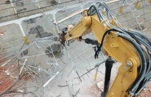 high reach kraan sloopwerken afbraakwerken